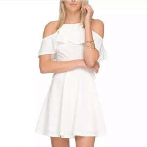 New!! She and Sky White off the shoulder dress